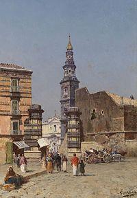 Francesco Coppola Castaldo Motiv aus Neapel c1880.jpg