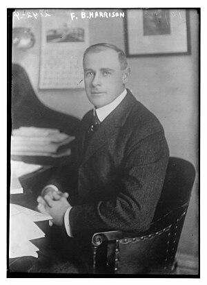 Francis Burton Harrison - Harrison in 1913