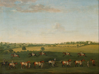 Sir Charles Warre Malet's String of Racehorses at Exercise