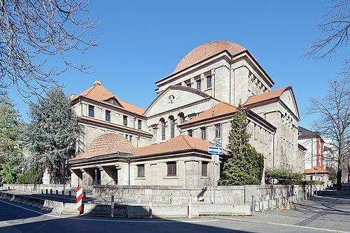 Frankfurt Am Main-Westendsynagoge von Suedwesten-20120325