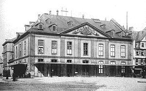 Comoedienhaus - The Comoedienhaus theater in 1902, the year of the theater's final show.