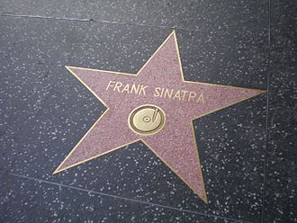 Frank Sinatra's recorded legacy - Sinatra's star for music on the Hollywood Walk of Fame.