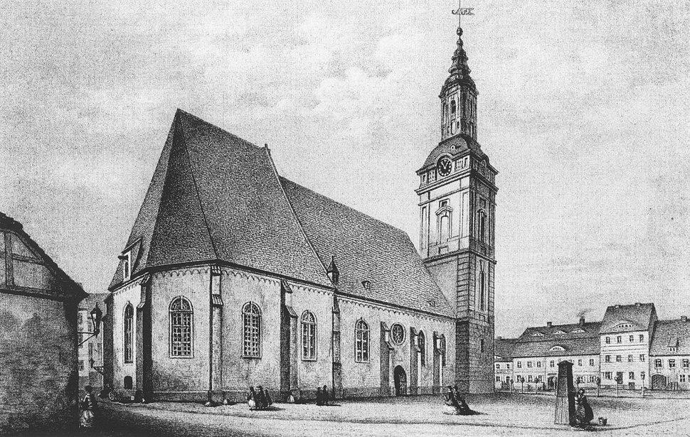 Französisch-Reformierte Kirche Frankfurt Oder um 1862