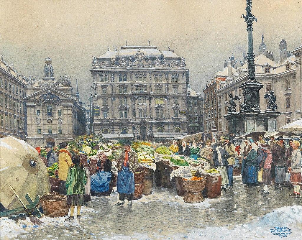 Franz Poledne - The vegetable market Am Hof.jpg