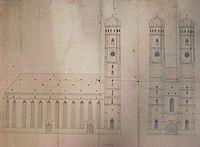 Frauenkirche München Aufrisse vor 1900.jpg