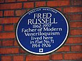 Fred Russell Blue Plaque.JPG
