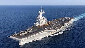 Nucleair aangedreven vliegdekschip Charles De Gaulle