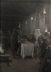 Frithiof kommer till Kung Ring (ur Frithiofs saga)