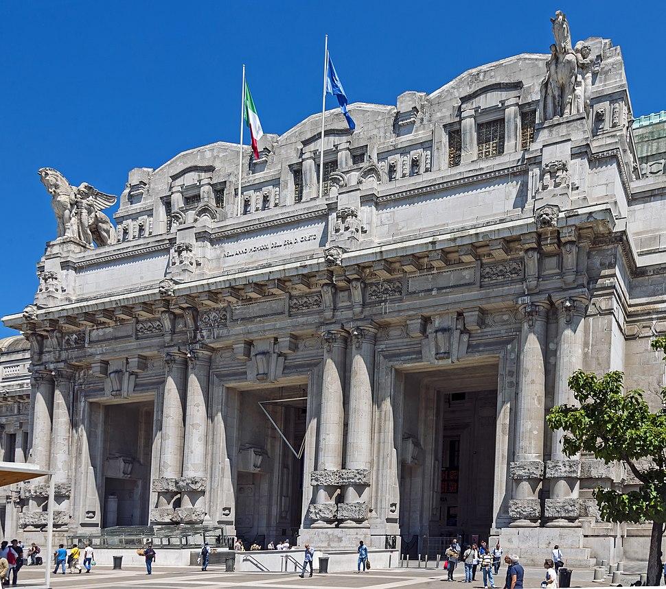 Front portico of Stazione Centrale, Milan