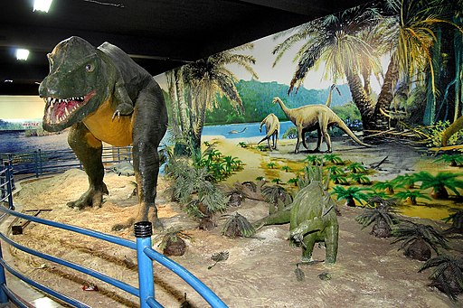 Front view of Carnivore Dinosaur from the Pakistan Museum of Natural History, Islamabad.