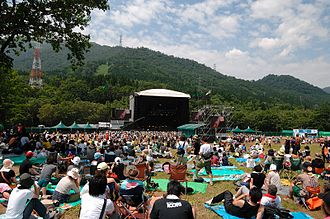 J-pop - Green Stage of the Fuji Rock Festival