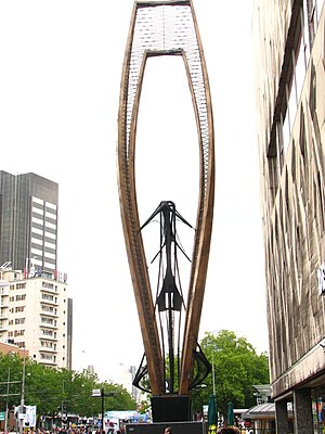 Naum Gabo - Metal sculpture by Naum Gabo in Rotterdam, Netherlands