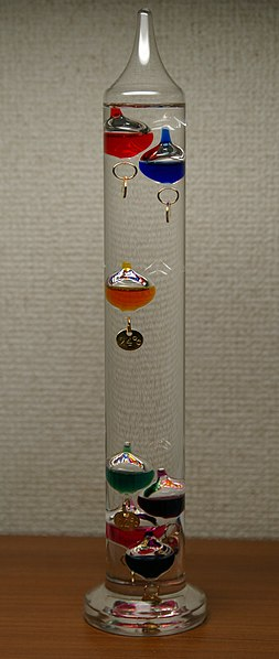Fitxer:Galileo Thermometer 24 degrees.jpg