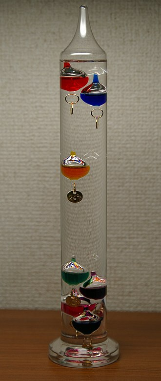 Galileo thermometer - A Galilean thermometer
