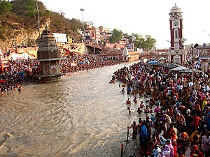 Ganga Dussehra - Ganga Dussehra at Har Ki Pauri, Haridwar in 2005