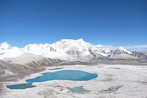 Gangkhar Puensum - The mountain seen from Gophu La pass