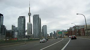 Gardiner Expressway - The Gardiner Expressway in downtown Toronto