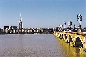 Die Garonne in Bordeaux