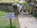 Gate on riverside footpath - geograph.org.uk - 1382627.jpg