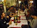 Gemütliches Zusammensein von Wikipedianern im Kartoffelhaus in Görlitz am Abend des ersten Tages von WikipediaOberlausitz 2013.JPG