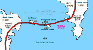 Busan–Geoje Fixed Link - Map of Busan–Geoje Fixed Link