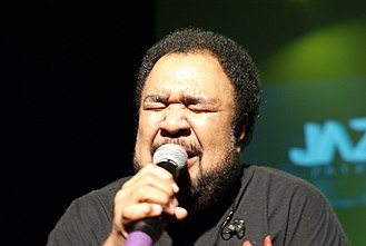 George Duke - George Duke sings on stage in 2010.