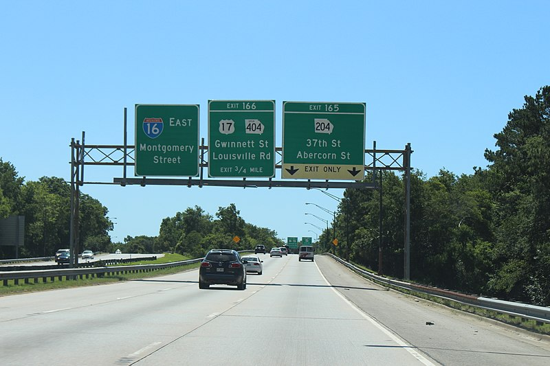 File:Georgia I16eb Exit 166 .75 mile.jpg