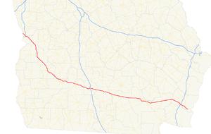 Georgia State Route 520 - Image: Georgia state route 520 map