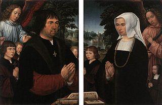 Portrait of Lieven van Pottelsberghe and Portrait of Livina van Steelant