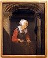 Gerard dou, figura femminile alla finestra, xvii secolo.jpg