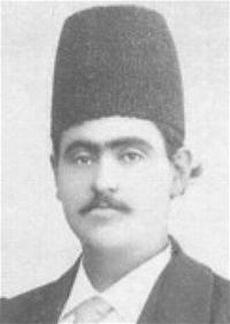 Ardalan - Gholam Reza Khan Ardalan, b. 1881, also known as Fakhr ol-Mamalek, from the house of Ardalan.