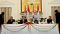 Ghulam Nabi Azad and the Minister of Health of Tajikistan, Mr. Salimov Nusratullo signing the agreement between the Ministry of Health and Family Welfare of India and the Ministry of Health of Tajikistan.jpg