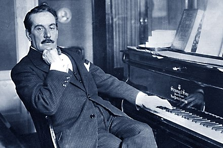 Giacomo Puccini, Italian composer whose operas, including La boheme, Tosca, Madama Butterfly and Turandot, are among the most frequently worldwide performed in the standard repertoire Giacomo Puccini pianoforte.jpg