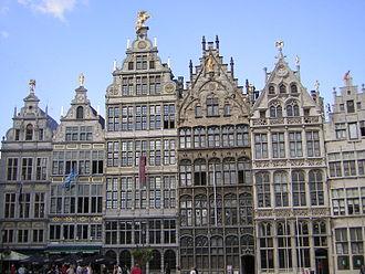Grote Markt (Antwerp) - Image: Gildehuizen Antwerpen