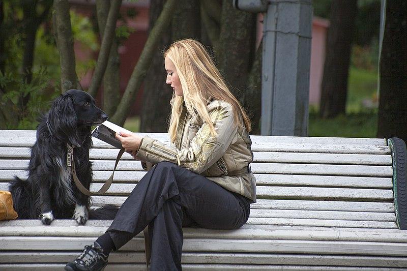 File:Girl with dog.jpg