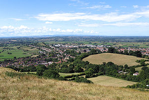 Glastonbury vista a partir do Tor.