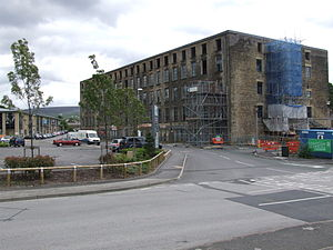 Francis Sumner (mayor) - Wren's Nest Mill is now being restored, with new retail development behind.