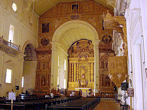 Basilica of Bom Jesus - Interior view towards altar