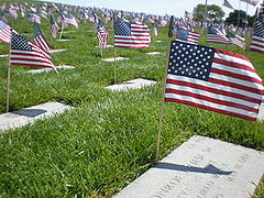Golden Gate National Cemetery mound Memorial Day 2008 graves 2.JPG