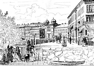 History of the Jews in Sweden - An 1860 lithograph of the Göteborg synagogue
