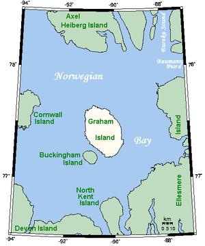 Norwegian Bay - Norwegian Bay and some of its islands.