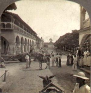 Granada, Nicaragua - Granada street scene, circa 1905