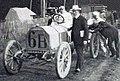 Grand Prix de l'ACF 1906, Marriaux sur Mercedes se rendant au départ.jpg