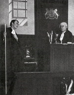 Sydney Granville - Granville (left) as the Usher in Trial by Jury, 1920, with Leo Sheffield as the Learned Judge