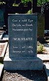 Yeats's gravestone in Drumecliff, Co Sligo.