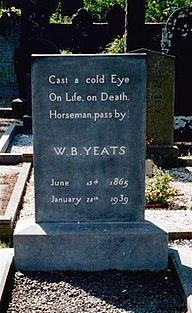 Grave of W. B. Yeats; Drumecliff, Co Sligo.jpg