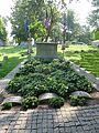 Grave of the Wright brothers, Woodland Cemetery chapel, Dayton, Ohio.jpg