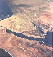 La péninsule de Sinaï et l'actuel Israël, Égypte et la Palestine