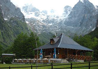 Gusinje - Grebaje restaurant in the foothills of the Prokletije Mountains