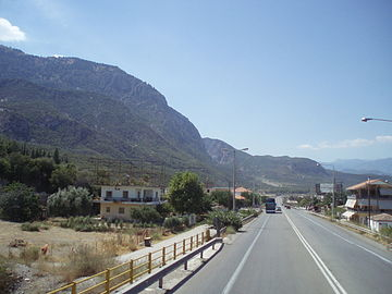Greek National Road 1 (PATHE) at Thermopylae (Thermopyles).jpg